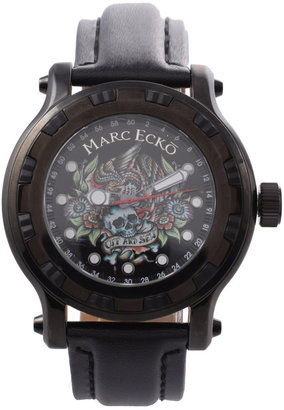 Marc Ecko Graphic Dial Black Watch - Black Dial Watches for Men