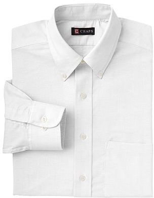 Chaps oxford solid button-down collar dress shirt - Dress Like Robert Pattinson