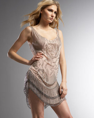 Haute Hippie Silk Rose Fringe Dress - Clothes