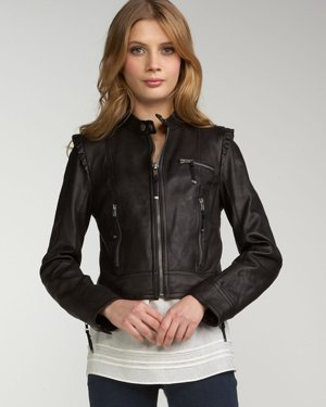 Leather Motorcycle Jacket - Moto Jacket Fashion 