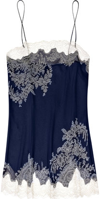 Carine Gilson Arabesque silk-satin and lace camisole - Silk Pajamas
