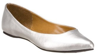 Women&#39;s Xhilaration: Saniya Pointed Toe Flats - Silver - Xhilaration