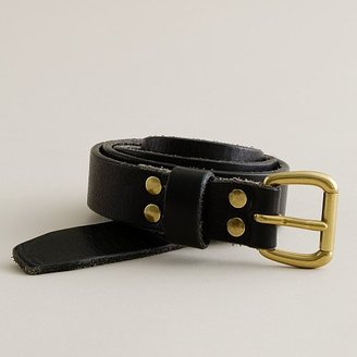 Distressed leather denim belt - Oversized Belt