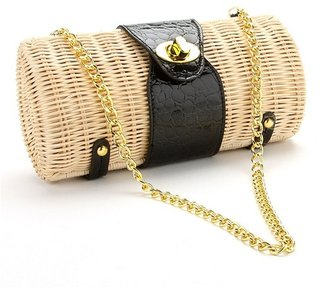 Straw Studios Wicker Clutch - Handbags
