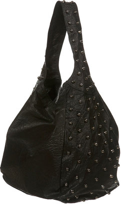 Leather Stud Slouch Bag - Topshop