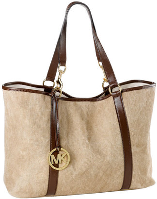 MICHAEL Michael Kors 'Summer XLarge' Washed Canvas Tote - Handbags