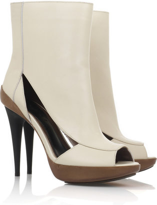 Marni Peep-toe cutout ankle boots - Marni