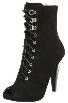GUESS Women's Naemazza Peep Toe Lace Up Boot - The Best Boots of 2010