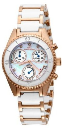 Klaus Kobec Women&#39;s 6061W-L Destiny Swiss Quartz Chronograph Rose-Gold Diamond Watch - Rose Gold Watches
