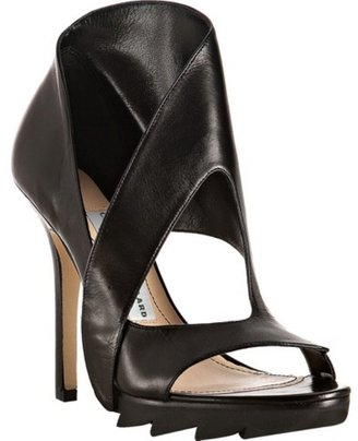 Camilla Skovgaard black leather &#39;Drop Point&#39; platform cutout sandals - Camilla Skovgaard