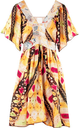 Anna Sui Habotai-silk print dress - Clothes