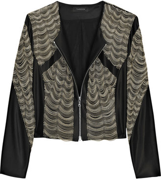 Thakoon Chain Wave cropped jacket - Great Chains