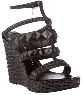 RODOLPHE MENUDIER - Strappy leather platform wedge sandals - Heels