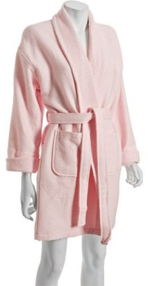 Aegean Apparel light pink cotton waffle knit belted robe - Pajamas &amp; Intimates