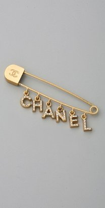 Wgaca Vintage Vintage Chanel '01 Word Fringe Pin - Classic Chanel Jewelry