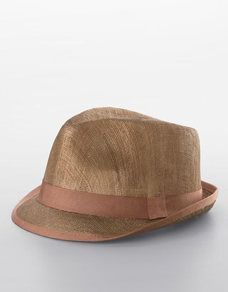 Lauren By ralph lauren Linen Fedora Hat - Fashion Hats For Women