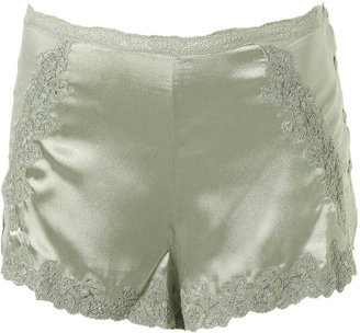 Lace And Silk Bed Shorts - Silk Pajamas