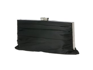 Lulu Townsend Rouched Satin Framed Clutch - Satin Clutch