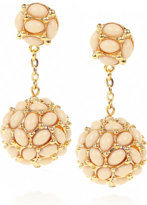 Kenneth Jay Lane 22-karat gold-plated droplet earrings - Dangle Earrings