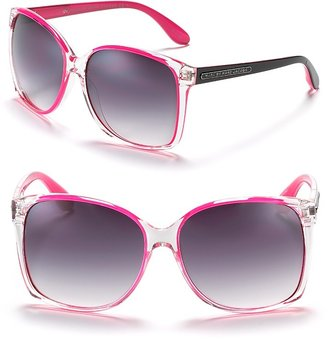 MARC BY MARC JACOBS Clear Frame Sunglasses with Neon - Marc Jacobs Sunwear