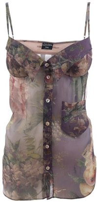 JEAN PAUL GAULTIER - Floral bustier top - Dress Like Kimberly Wyatt