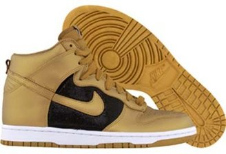 Nike Womens Dunk High Black/Gold Glitter - Kanye West Sneakers