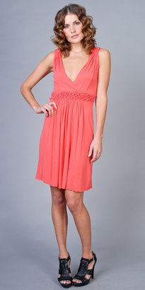Coral V-neck Dresses by My Tribe - eDressMe