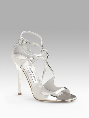 Jimmy Choo Lance Mirrored Sandals - Evening Sandals