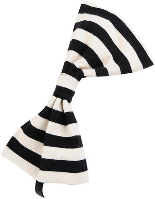 Striped Bow Elastic Headband - Forever 21