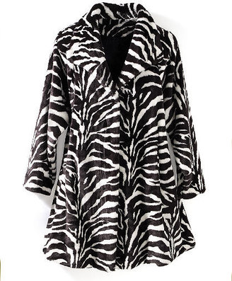 Zebra-striped swing coat - Outerwear
