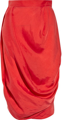 Vivienne Westwood Red Label Draped crepe pencil skirt - Vivienne Westwood