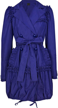 Anna Sui Nylon ruffled trench coat - Outerwear