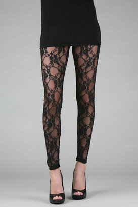 Carter Floral Maze Lace Leggings - Pants & Shorts