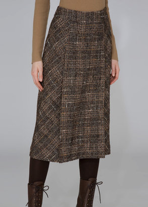 A-Line Plaid Skirt - Anne Klein