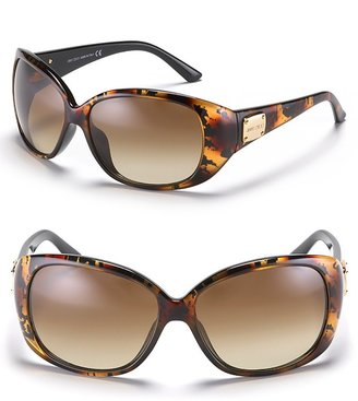 Jimmy Choo Round Sunglasses with JC Plaque Detail - Sunglasses