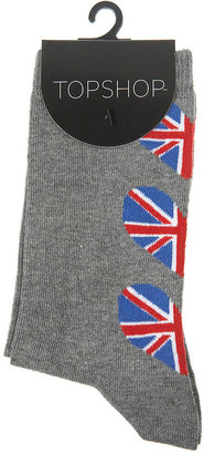 Union Jack Seam Ankle Socks - Socks