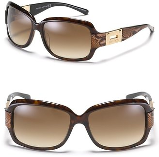 Jimmy Choo &quot;Essie&quot; Rectangular Sunglasses with Snake Detail - Jimmy Choo
