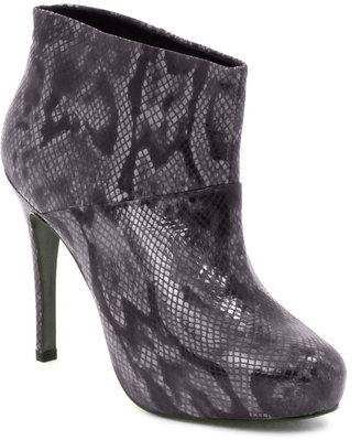 Oasis Mary Snake Effect Platform Ankle Boot - Shoes
