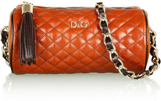 D&G Dolce&Gabbana Quilted Lily Cross Body Barrel Bag - Dazzling Dolce and Gabbana Handbags