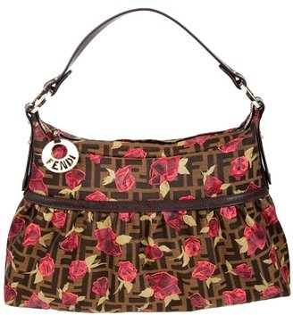 FENDI - Rose print hobo bag - Printed Leather Handbags