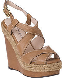 Gastone Lucioli - 9079 Wedge Sandal Luggage Leather - Heels