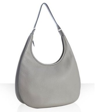 Hermes grey leather 'Gao' shoulder bag - Shoulder Bags