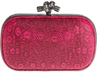 Bottega Veneta Knot Lucertola Clutch - Pink - Clutches