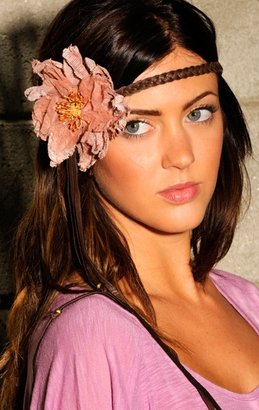 Victorian Hippie Flower Gauze Headband - Headband