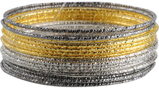 Pressed Textured Bangle Set - Jewelry