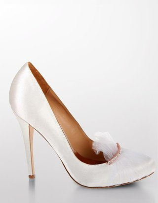 Badgley Mischka Renee Tulle &amp; Rhinestone Satin Pumps - Heels