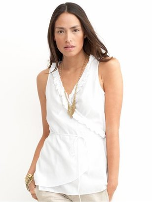 Petite sleeveless ruffle wrap - Banana Republic