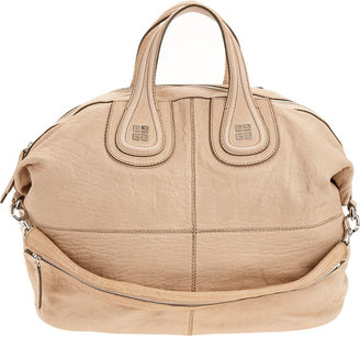 Givenchy Large Pebbled Nightingale - Beige - Leather Tote