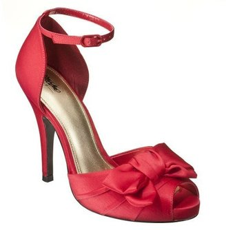Women's Mossimo® Isha Satin Pumps - Red - Heels