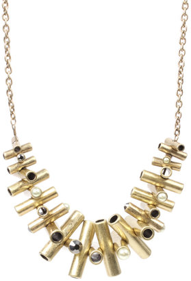 ASOS Short Statement Metal Tubes Necklace - Statement Necklace